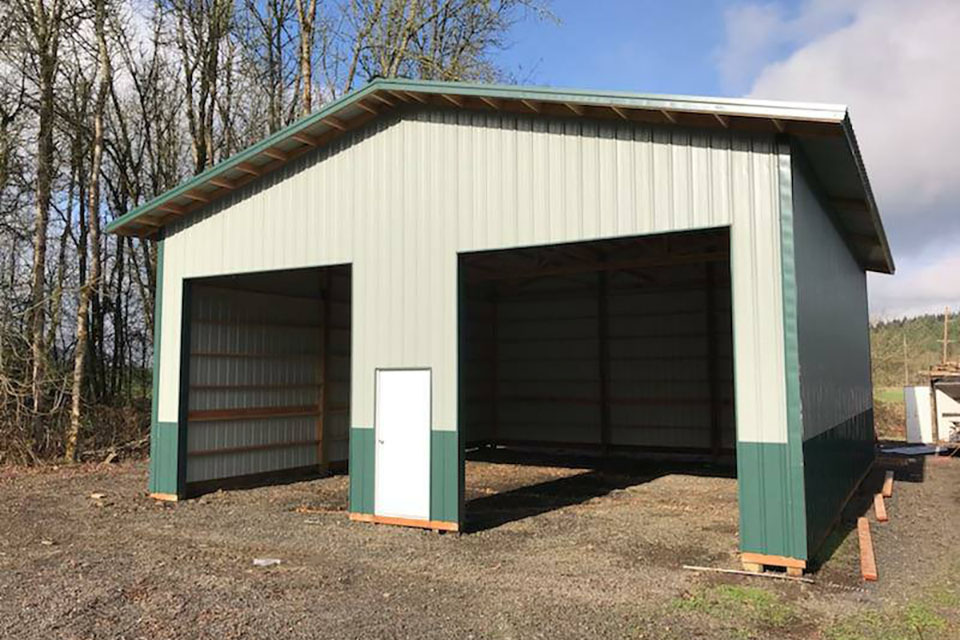 2 Door Metal Sheet Garage